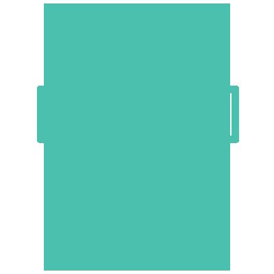 Coins going into a savings icon