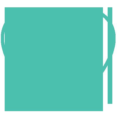 Globe inside heart icon