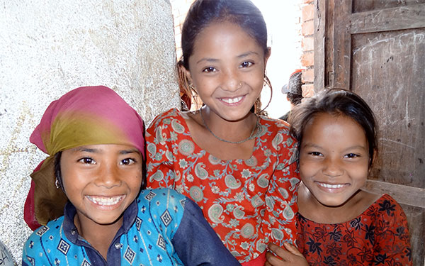 Nepalese children receive first ever eye care