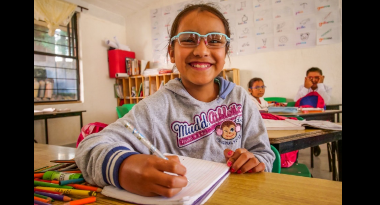 Your Support of the World Sight Day Challenge Helps Children like Claudia from Mexico
